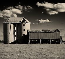 Silos at Shoalhaven 2 by Ron C. Moss