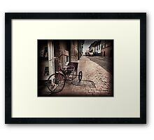 And then the childhood was left behind Framed Print
