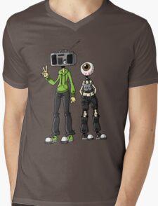Object Heads Mens V-Neck T-Shirt