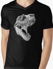 T-rex skull Mens V-Neck T-Shirt