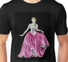 Bone China Figurine Wearing a Pink Dress Unisex T-Shirt