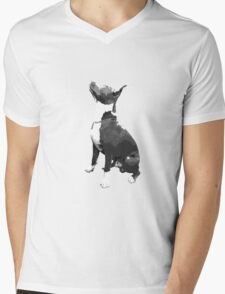 Pit Bull dog Mens V-Neck T-Shirt