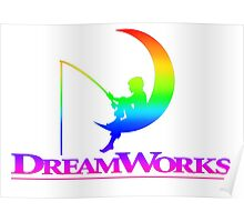 Rainbow Dream Works Logo Poster