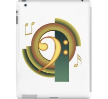 Deco Bass Clef iPad Case/Skin