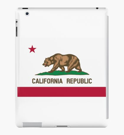 California USA State Flag Bedspread Duvet T-Shirt - Californian Sticker iPad Case/Skin
