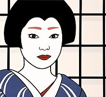 Geisha - Portrait of an artist. by Simone Maynard