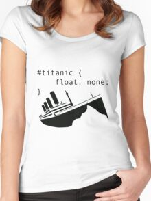 Titanic in CSS computer code Women's Fitted Scoop T-Shirt