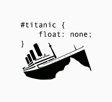 Titanic in CSS computer code Men's Baseball ¾ T-Shirt