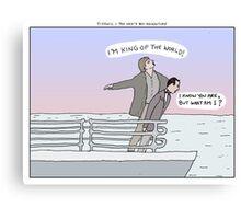 Titanic + Pee Wee's Big Adventure Canvas Print