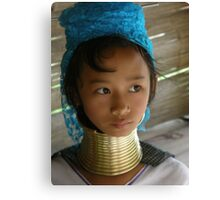 Girl in Chiang Mai Canvas Print