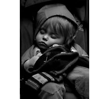 Sleepy Baby Photographic Print