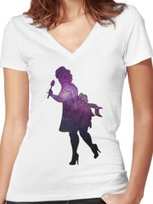 girls girls girls Women's Fitted V-Neck T-Shirt