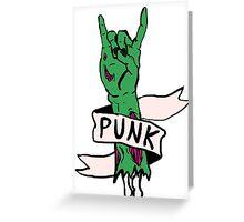 Punk Rock Zombie Greeting Card