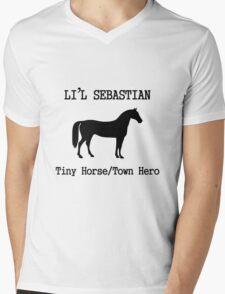Li'l Sebastian Mens V-Neck T-Shirt