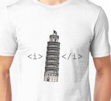 The Leaning Tower of Pisa Italic HTML Unisex T-Shirt