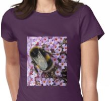Up Close and Personal - Bumble Bee at Work  Womens Fitted T-Shirt