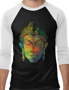 Buddha on pipal leaf Men's Baseball ¾ T-Shirt