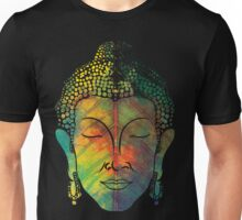 Buddha on pipal leaf Unisex T-Shirt