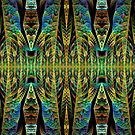 Tribal patterns, fractal abstract by walstraasart
