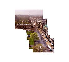 Edinburgh Princes Street Montage  Photographic Print