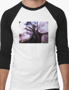 Rhino 2 - Buy Rhinoceros Art Prints Men's Baseball ¾ T-Shirt
