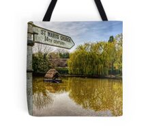 The Duckpond in the village of Crawley, near Winchester Tote Bag
