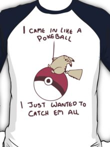 pokemon pikachu wrecking ball milley cyrus T-Shirt