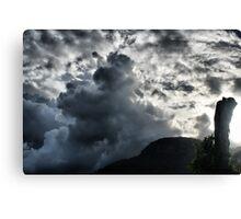 Dark Clouds over Crown Mountain Canvas Print