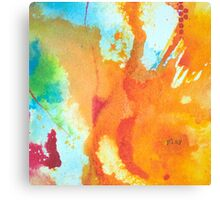 Play Affirmation - Bright abstract Painting Canvas Print