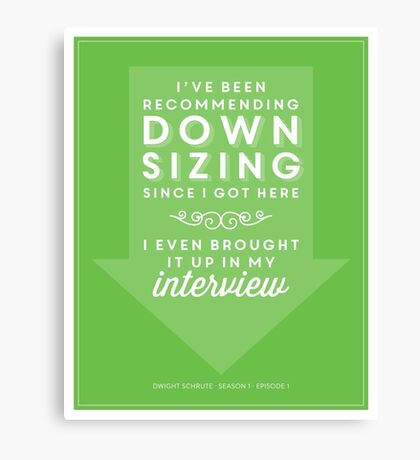 The Office Dunder Mifflin - Recommending Downsizing Canvas Print