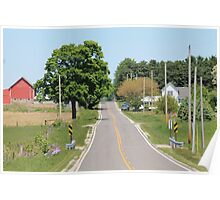 Crooked Country Road Poster