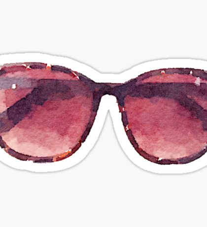 Big Sunglasses in Watercolor - Trendy/Summer/Hipster Style Sticker