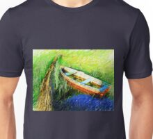 Small pier at Lake Malleco Unisex T-Shirt