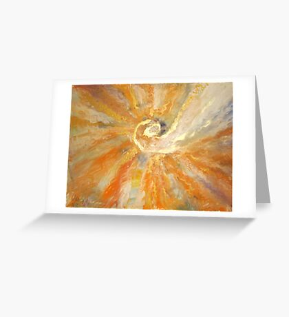 Spiral of light and waves of warmness  Greeting Card