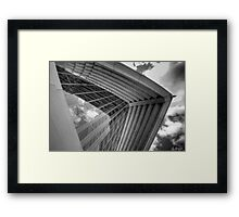 Self Reflections - Reflections of the sky on the Opera House glass - Black & White Framed Print