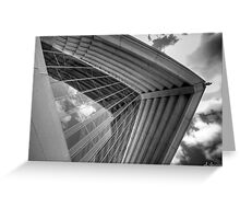 Self Reflections - Reflections of the sky on the Opera House glass - Black & White Greeting Card