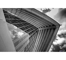 Self Reflections - Reflections of the sky on the Opera House glass - Black & White Photographic Print