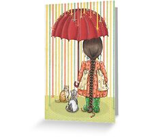 raining color Greeting Card