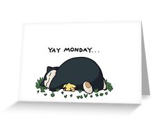 pokemon sleep yay monday t-shirt Greeting Card