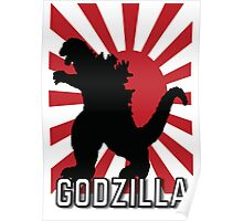Godzilla, Red and Black Poster