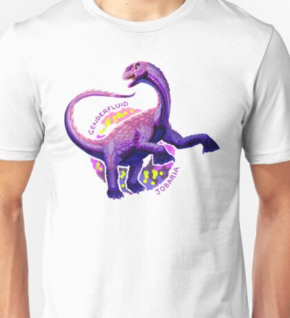 Genderfluid Jobaria (with text)  Unisex T-Shirt