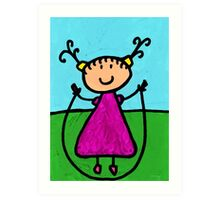Happi Arte 7 - Girl On Jump Rope Art Art Print
