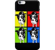 Black And White Pop Art Border Collie iPhone Case/Skin