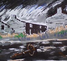 Derelict cottages, Rhosydd Slate Quarry, North Wales. by Martin Williamson (©cobbybrook)