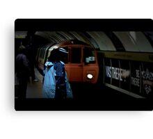 Cinematic subway Canvas Print