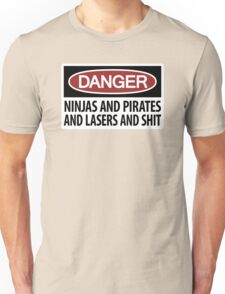 Ninjas and Pirates and Lasers, Oh My! Unisex T-Shirt