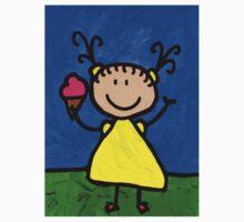 Happi Arte 3 - Little Girl Ice Cream Cone Art One Piece - Short Sleeve