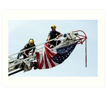 Unveiling The US Flag Art Print