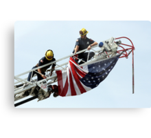 Unveiling The US Flag Metal Print