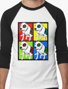 Colorful Pop Art Pit Bull Men's Baseball ¾ T-Shirt